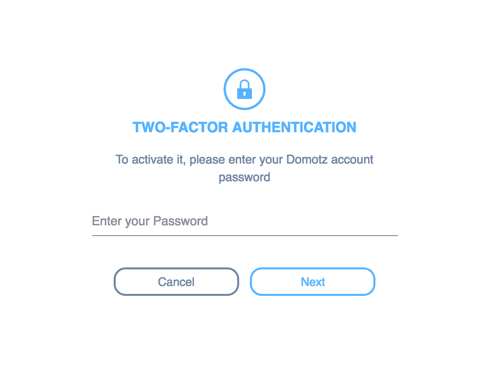 Two-Factor Authentication | Domotz Pro User Guide | tomehost