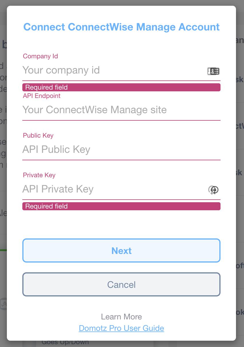 Domotz ConnectWise Manage Integration screenshot 11